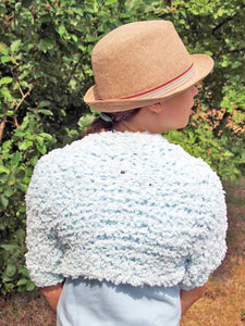 Knit Bolero knitted for girls pale blue