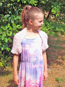 Knit cardigan for communion and school beginners