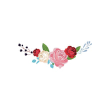 Load image into Gallery viewer, heat textile sticker flowers rose