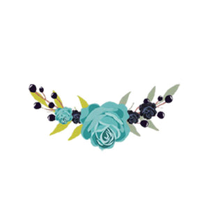 heat transfer textile sticker flowers turquoise