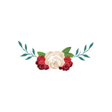 Load image into Gallery viewer, heat transfer textile sticker flowers cream red