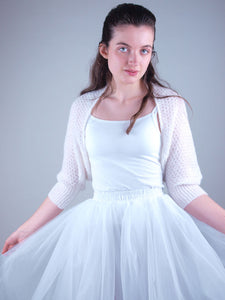 Tull skirt with lace bolero knitted for weddings