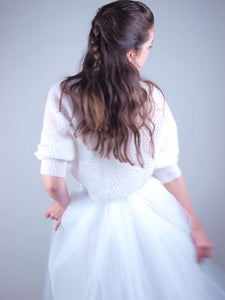 Lace knit bolero for brides and tull skirts