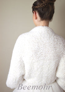 Wedding knit jacket made for your bridal gown or skirt
