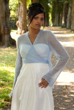 Load image into Gallery viewer, wedding jacket knitted for bridal gowns ivory, blush and white