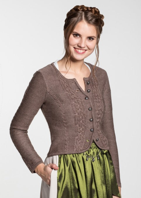 Traditional jacket for your dirndl brown