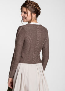 Traditional knit cardigan Bonn brown for dirndl from Spieth & Wensky