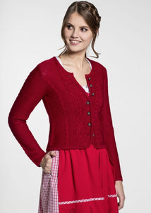 BONN red from Spieth & Wensky knit jacket for traditional skirts and dresses