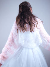 Load image into Gallery viewer, White loose knit jacket for brides