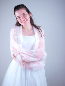 Bridal Knit bolero loose for wedding skirts