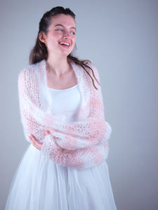 Knit coverup loose for brides and grooms