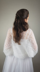 bridal knit bolero for luxury weddings
