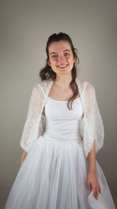 Bridal knit coverup for wedding skirts in corona times
