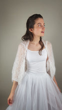 Load image into Gallery viewer, Bridal knit bolero for wedding gowns