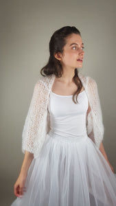 Bridal knit bolero for wedding gowns