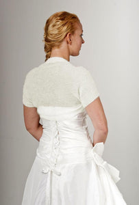 Knit jacket for brides with short sleeves for your wedding dress order online