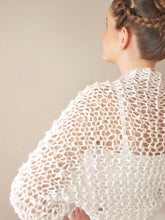 Load image into Gallery viewer, Wedding Bolero with short sleeves for summer and spring brides