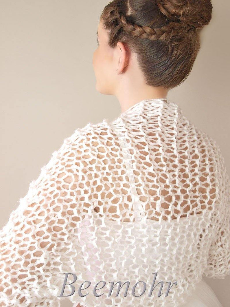 Bridal Bolero with short sleeves for summer brides