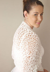 Bridal Bolero knitted with short sleeves for summer brides