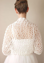 Load image into Gallery viewer, Wedding knit bolero jacket for your bridal gown
