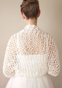 Wedding knit bolero jacket for your bridal gown