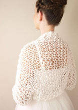Load image into Gallery viewer, Wedding knit bolero jacket for your bridal gown or skirt