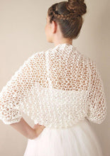 Load image into Gallery viewer, Wedding knit bolero jacket for your bridal gown in ivory