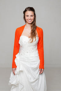 Kaschmirjacke in orange