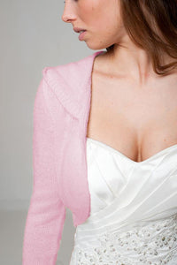 Hoody for your wedding dress knitted for Brides rose