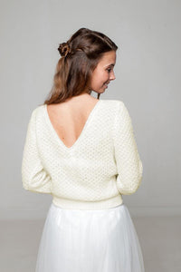 Wedding jumper knitted for your wedding skirt or wedding dress