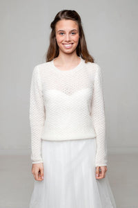 Bridal knit sweater made for your wedding dress or skirt