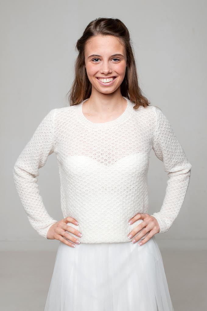 Bridal jumper knitted for your wedding dress or skirt
