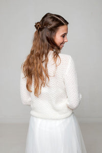 Bridal sweater knitted for your wedding dress or skirt ivory