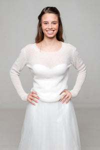 Bridal pullover knitted for your wedding skirt