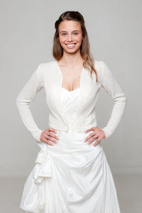 Knit Jacket white and ivory for US Brides