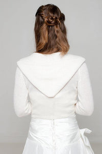 Bridal jacket in ivory with hood for your wedding dress