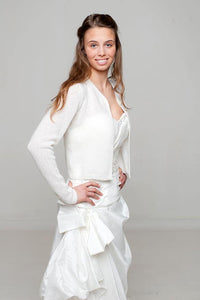 Bridal Knit Jacket white and ivory for US Brides