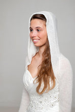 Load image into Gallery viewer, Bridal jacket knitted with hood for special bridal outfits