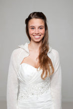 Load image into Gallery viewer, Wedding cardigan knitted with hood for special bridal outfits