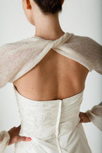 Load image into Gallery viewer, Bridal bolero made of cashmere for your bridal gown