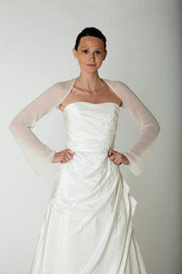 Bridal bolero made of cashmere for your bridal gown ivory