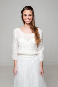 Wedding Lace pullover for your bridal gown in ivory