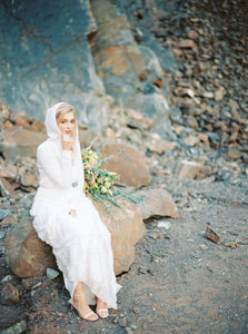 Bridal jacket in ivory with hood for your wedding