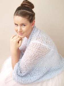 knit bolero loose in blue grey for your wedding
