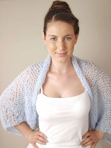 knit jacket loose in blue grey for your wedding dress