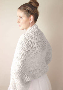 knit bolero loose in ivory for your wedding dress