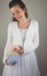 Cosy knit cardigan white for weddings