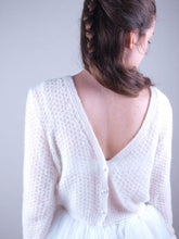 Load image into Gallery viewer, Bolero MIA knitted in a unique lace pattern with knots and soft wool