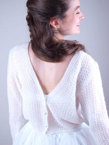 Corona times Lace bolero in ivory knitted for weddings
