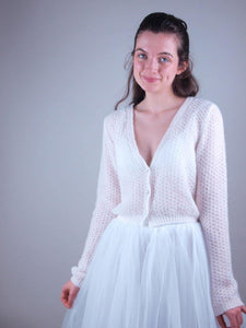 weddingknitwear bolero, sweater and loops